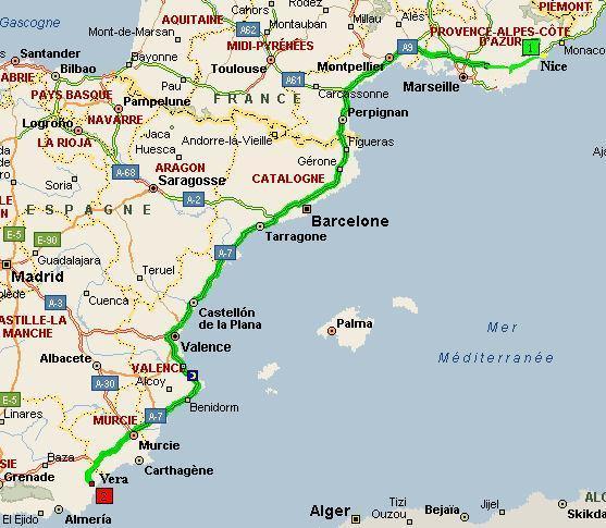 Carte Vera Andalousie.Dede S Site Espagne Carnet De Voyage Espagne Voyage
