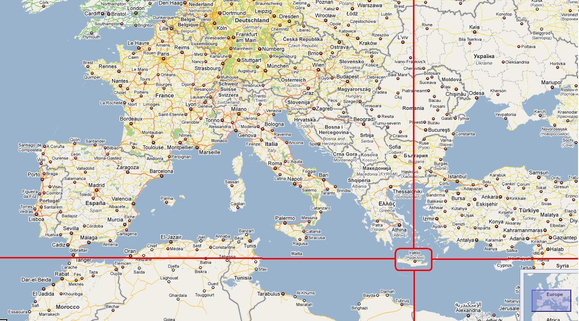 carte du monde ou est la crete - Image