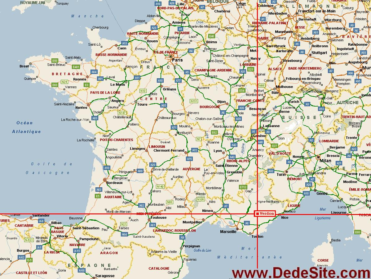 gorge du verdon carte -