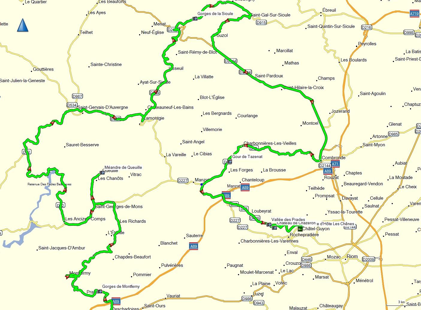 gorges de la sioule carte DedeSite.: Les Gorges de la Sioule sur les terres Auvergne